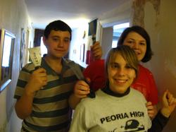Wallpaper removal team!