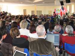 A full house in the new sanctuary for the teachers' fathering conference