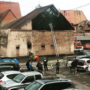 Soultz Parking-Lot Barn Fire