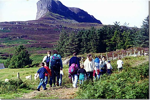 Eigg sgurr hike - off we go!
