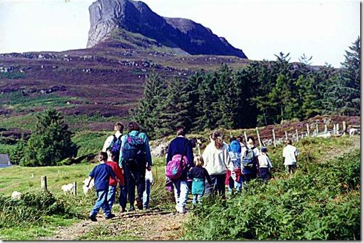 Eigg sgurr hike - off we go!