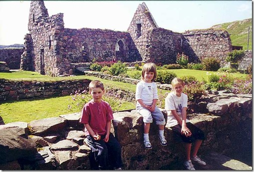 Posing at the Iona ruins